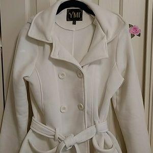 YMI hooded dbl breasted jacket.